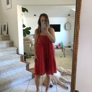 Adorable Red Summer Dress